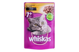 Корм для дорослих котів з куркою в соусі Whiskas д/п 100г