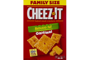 Cheez-It Family Size Baked Snack Crackers Reduced Fat Original