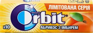 Резинка жевательная без сахара Абрикос с имбирем Orbit м/у 14г