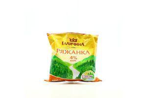 Ряженка 4% п/е 400г Галичина