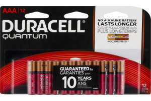 Duracell Quantum Batteries AAA - 12 CT