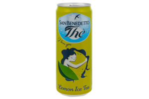 Напій безалкогольний негазований пастеризований Lemon Ice Tea San Benedetto з/б 0.33л