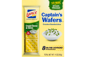 Lance Captain's Wafers Cream Cheese & Chives Cracker Sandwiches- 8 PK