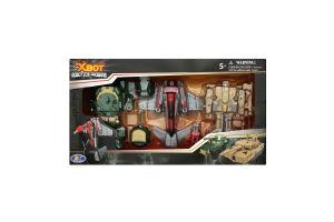 Набір ігровий X-bot Робот-трансформер 15 см, Танк зелений Літак Танк бежевий