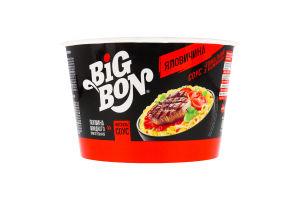Локшина швидкого приготування Яловичина+соус Томатний з базиліком BigBon ст 85г