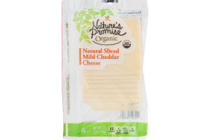 Nature's Promise Organic Natural Sliced Mild Cheddar Cheese - 8 CT