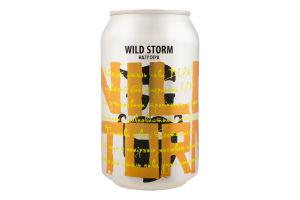 Пиво 0.33л 7% светлое нефильтрованное непастеризованное Wild Storm Beermaster Brew ж/б