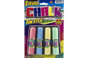 Sidewalk Chalk Fun Stix - 4 CT