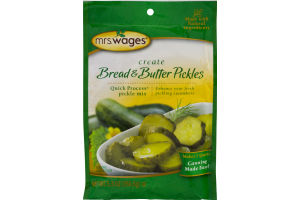 Mrs. Wages Bread & Butter Pickles Quick Process Pickle Mix