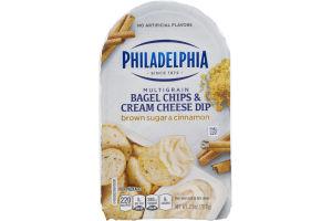 Philadelphia Multigrain Bagel Chips & Cream Cheese Dip Brown Sugar Cinnamon