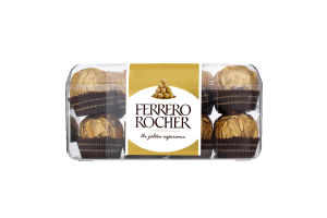 Конфеты вафельные с молочным шоколадом и лесными орехами Ferrero Rocher п/у 200г