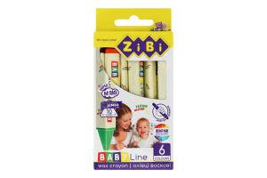 Олівці воскові №ZB.2483 Baby Line ZiBi 6шт