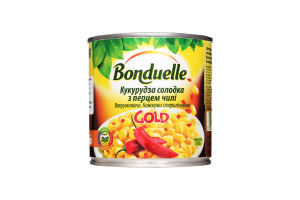 Кукуруза сладкая с перцем чили Gold Bonduelle ж/б 310г