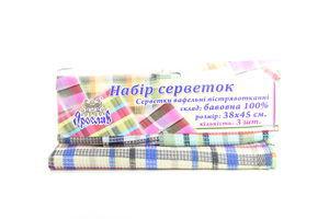 Набір Ярослав серветок вафельних 100% бавовна 3шт 38х45