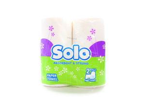 Полотенце кухонное бумажное 2 слой белый Solo 2шт