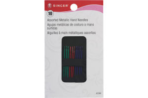 Singer Assorted Metallic Hand Needles - 10 CT