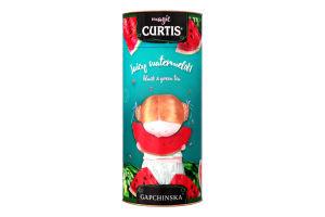 Чай чорний та зелений байховий листовий ароматизований Juicy Watermelon Curtis ж/б 80г