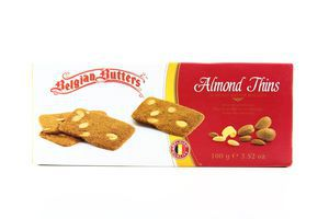 Печиво вафельне Belgian Butter Almond Cookies 100г х12
