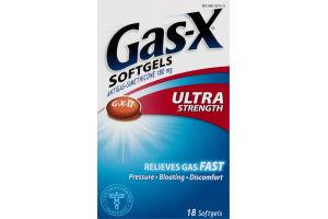 Gas-X Softgels Ultra Stength - 18 CT