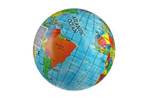Мяч UNICE Глобус, 23 см