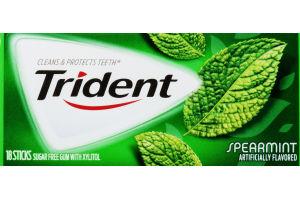 Trident Sugar Free Gum Spearmint - 18 CT