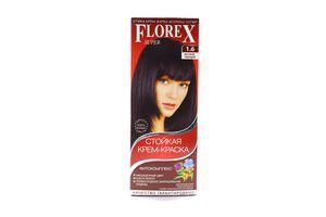Крем-краска для волос Иссине-черный №1.6 Florex Super
