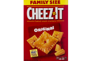 Cheez-It Family Size Baked Snack Crackers Original