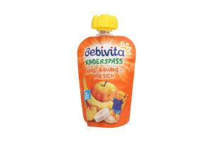 Пюре для детей от 12мес Яблоко Банан Персик Bebivita д/п 90г