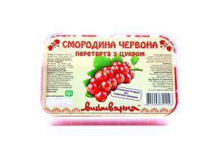 Смородина Вышиванка красная с сахаром с/м лоток 250г