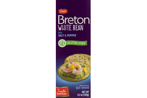 Dare Breton Crackers White Bean With Salt & Pepper