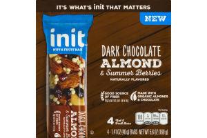 Init Nut & Fruit Bar Dark Chocolate Almond & Summer Berries - 4 CT