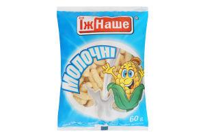 Палочки кукурузные сладкие неглазированные молочные ЇжНаше м/у 60г
