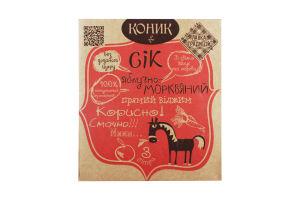 Сок яблочно-морковный неосветленный пастеризованный Коник Лавка традицій к/у 3л