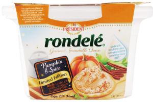 President Rondele Gourmet Spreadable Cheese Pumpkin Spice
