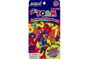 ArtSkills A2Z Foam Letters & Numbers Peel-n-Stick - 228 CT