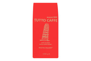 Кофе натуральный жареный в зернах Rosso Tutto Caffe м/у 1000г