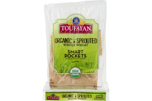Toufayan Bakeries Smart Pockets Organic Sprouted Whole Wheat - 6 CT