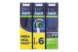 Насадки змінні для електричної зубної щітки Cross Action CleanMaximiser Oral-B 6шт