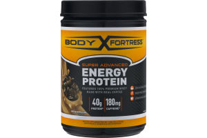 Body Fortress Super Advanced Energy Protein 40g Protein / 180mg Caffeine Mocha Cappuccino