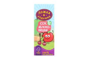 Сок яблочно-вишневый для детей от 5мес Ложка в ладошке т/п 200мл