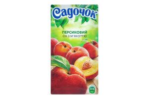 Сок персиковый с мякотью Садочок т/п 0.5л