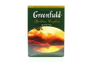 Чай черный цейлонский листовой Golden Ceylon Greenfield к/у 100г