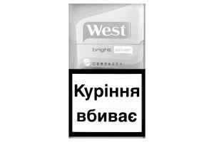 Сигареты с фильтром Bright Silver Compact+ West 20шт