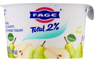 Fage Total 2% Lowfat Greek Strained Yogurt Pear
