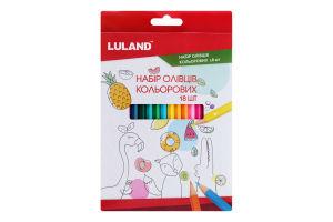 Н-р карандашей цветных 18шт Y-*2