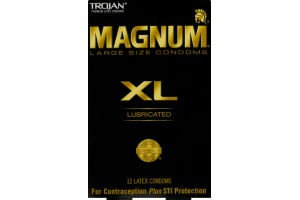 Trojan Magnum XL Lubricated Latex Condoms - 12 CT