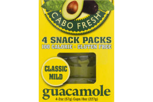 Cabo Fresh Guacamole Snack Packs Classic Mild - 4 CT