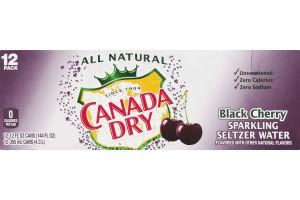 Canada Dry Sparkling Seltzer Water Black Cherry - 12 PK