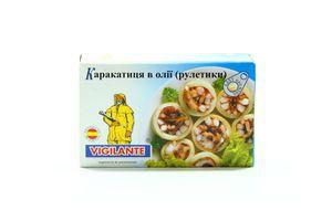 Каракатица в масле (рулетики) 115 гр.