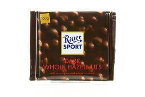 Шоколад черный с цельным лесным орехом Ritter Sport 100г